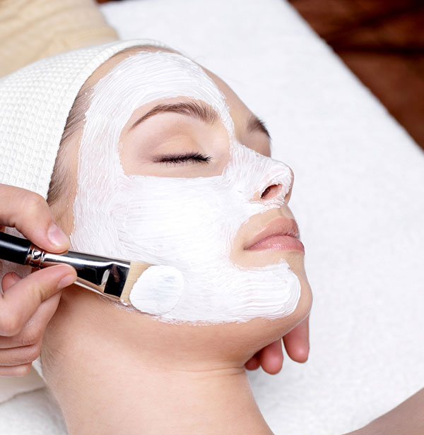 Facial mask from our Summit County spa