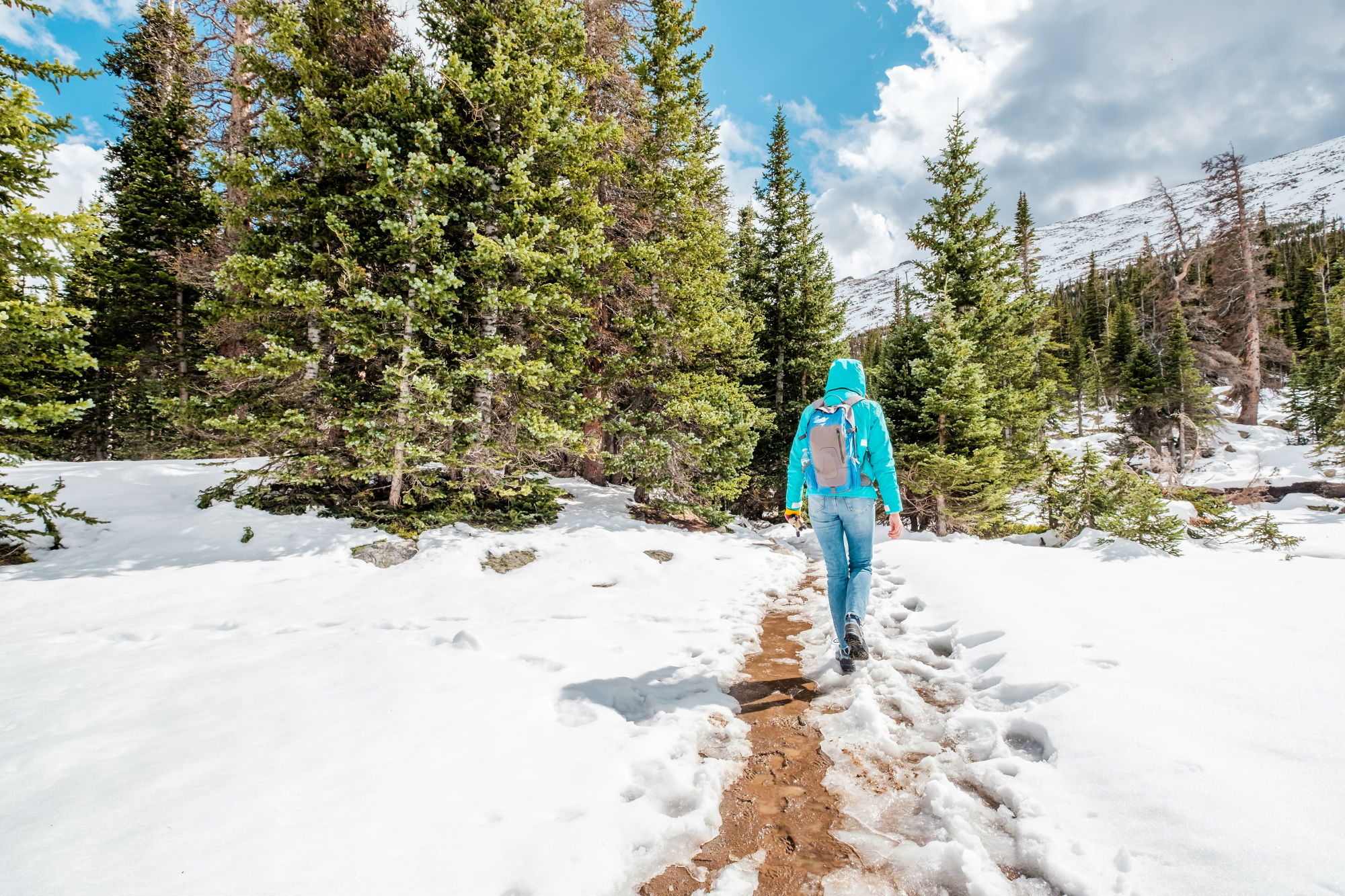 Hiking in Breck in Winter
